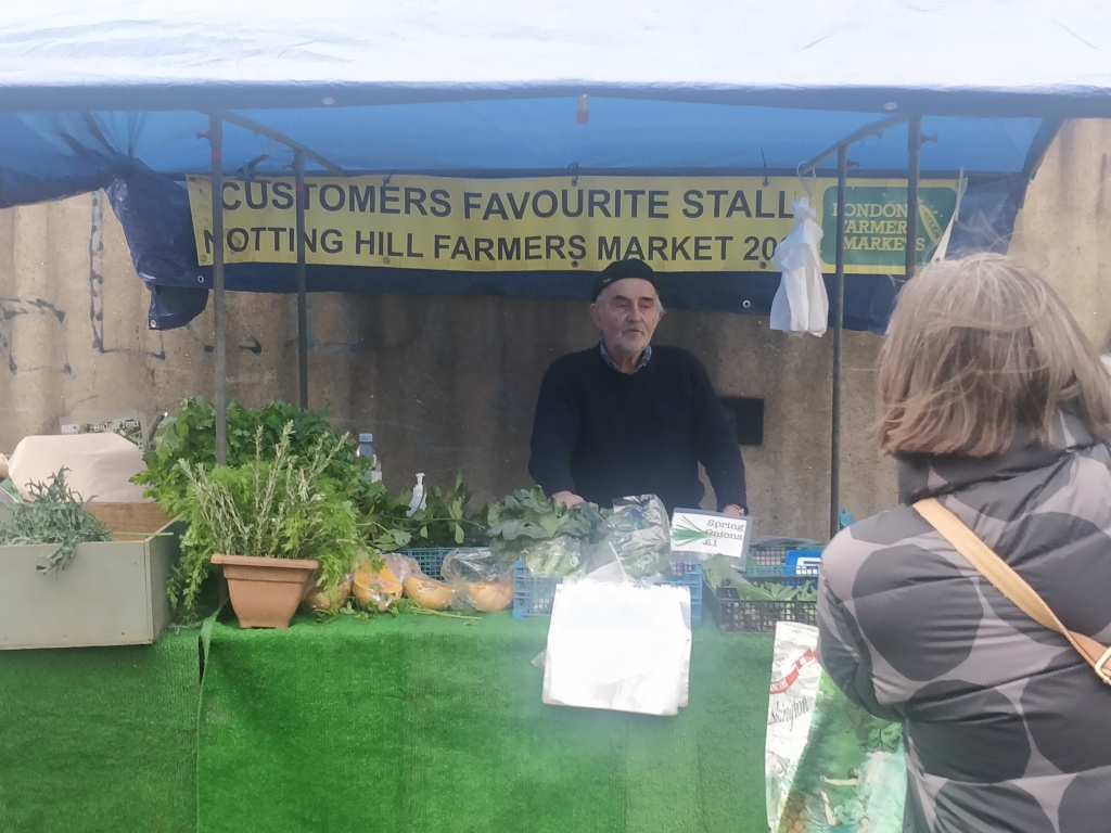 Nigel's Lettuce and Lovage at his pop up shop at Notting Hill farmer's market